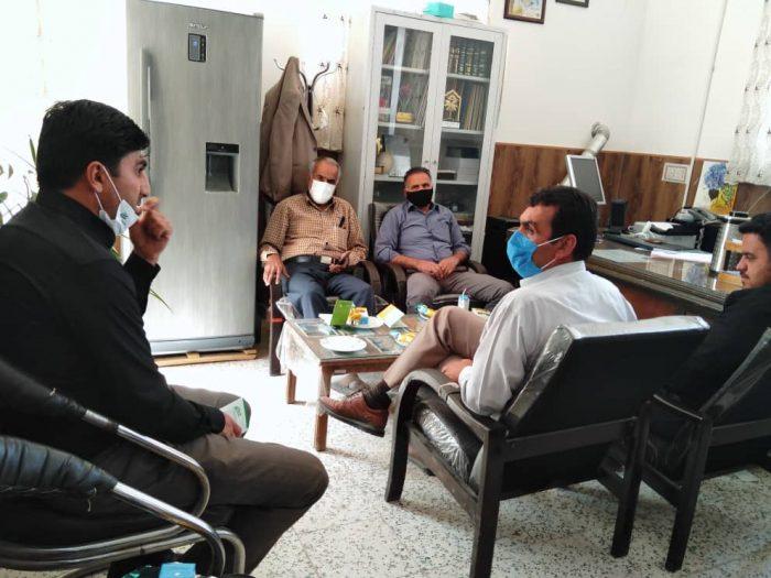 نشست با مسئولین اداره کشاورزی در شهرستان مروست، استان یزد